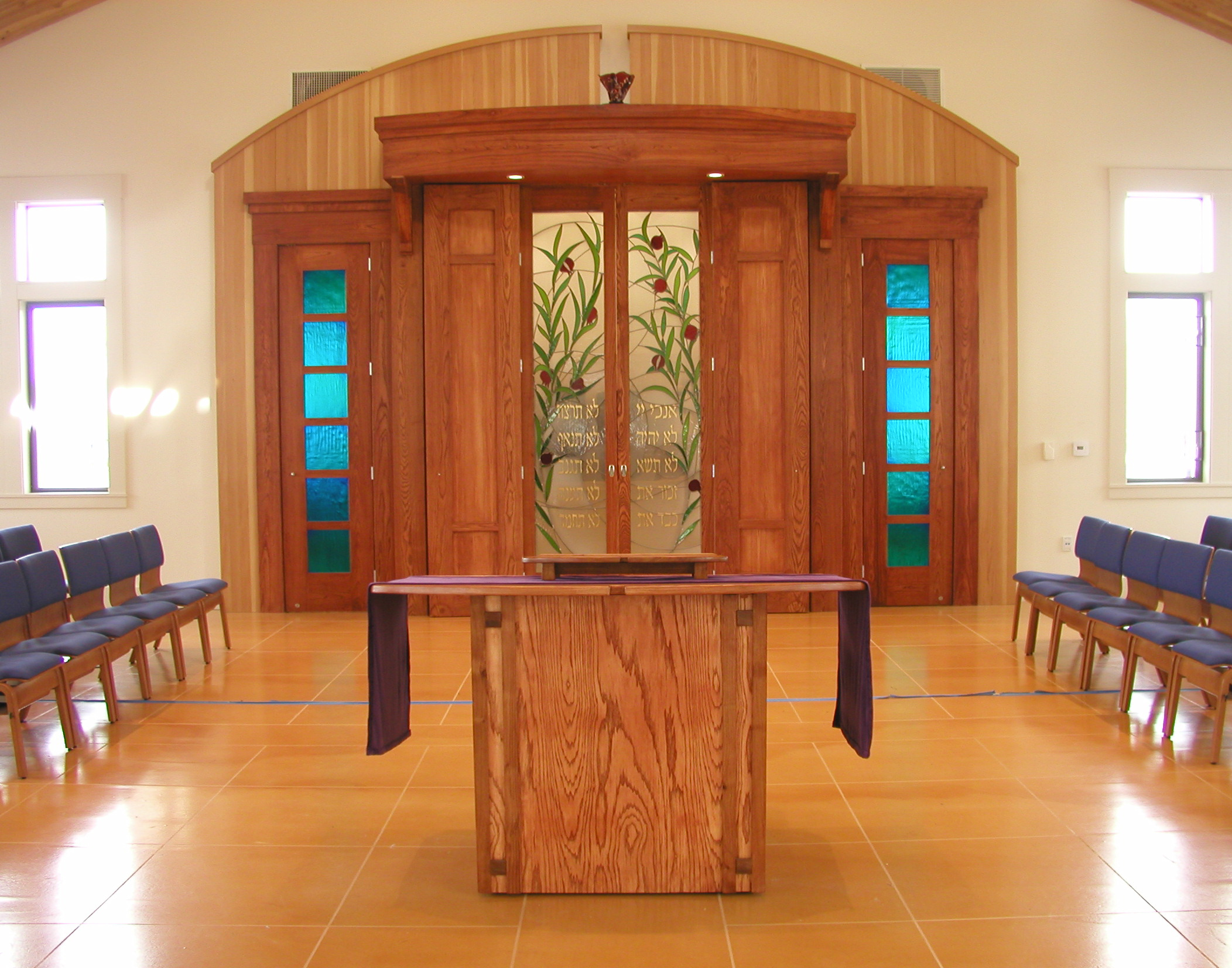 Tree Of Life Synagogue Stained Glass Aron Hakodesh
